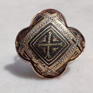 Antique spanish damascene ring